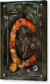Steampunk - Alphabet - C Is For Chain Acrylic Print by Mike Savad