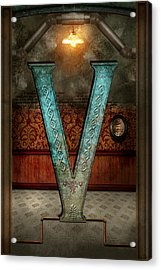 Steampunk - Alphabet - V Is For Victorian Acrylic Print by Mike Savad