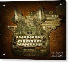 Steampunk Antique Typewriter Oliver Company Acrylic Print by Svetlana Novikova