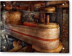 Steampunk - Belts - Old School Is Best Acrylic Print by Mike Savad