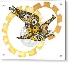 Steampunk Bird Acrylic Print