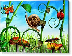 Steampunk - Bugs - Evolution Take Time Acrylic Print by Mike Savad