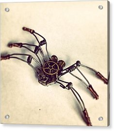 #steampunk #bugs More To Come Acrylic Print by Dana Forte