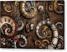 Steampunk - Clock - Time Machine Acrylic Print by Mike Savad