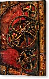 Steampunk - Clockwork Acrylic Print by Mike Savad