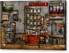 Steampunk - Coffee - The Company Coffee Maker Acrylic Print by Mike Savad