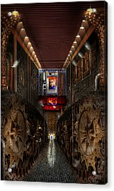 Steampunk - Dystopian Society Acrylic Print by Mike Savad