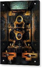 Steampunk - Electrical - The Power Meter Acrylic Print by Mike Savad