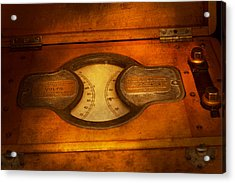 Steampunk - Electrician - The Portable Volt Meter Acrylic Print by Mike Savad