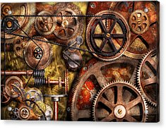 Steampunk - Gears - Inner Workings Acrylic Print by Mike Savad
