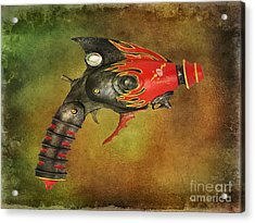 Steampunk - Gun - Electric Raygun Acrylic Print by Paul Ward
