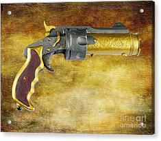 Steampunk - Gun - The Hand Cannon Acrylic Print by Paul Ward