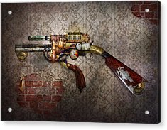 Steampunk - Gun - The Sidearm Acrylic Print by Mike Savad