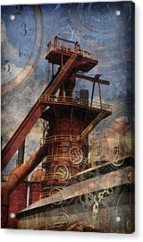 Steampunk Iron Mill Acrylic Print by Davina Washington