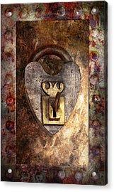 Steampunk - Locksmith - The Key To My Heart Acrylic Print