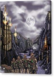 Steampunk Moon Invasion Acrylic Print