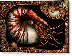 Steampunk - Nautilus - Coming Out Of Your Shell Acrylic Print by Mike Savad