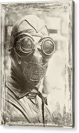 Steampunk Ninja Acrylic Print by David April