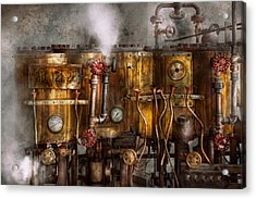 Steampunk - Plumbing - Distilation Apparatus  Acrylic Print by Mike Savad