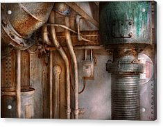 Steampunk - Plumbing - Industrial Abstract  Acrylic Print by Mike Savad