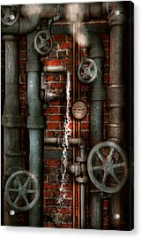 Steampunk - Plumbing - Pipes And Valves Acrylic Print