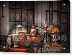 Steampunk - Private Distillery  Acrylic Print by Mike Savad