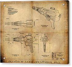 Steampunk Raygun Acrylic Print by James Christopher Hill