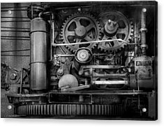Steampunk - Serious Steel Acrylic Print by Mike Savad