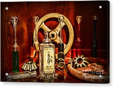Steampunk - Spare Gears - Mechanical Acrylic Print by Paul Ward