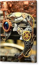 Steampunk - The Mask Acrylic Print by Paul Ward