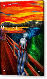 Steampunk - The Scream Acrylic Print by Mike Savad