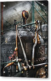 Steampunk - The Steam Engine Acrylic Print by Mike Savad