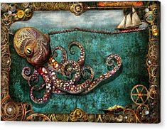 Steampunk - The Tale Of The Kraken Acrylic Print