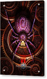Steampunk - The Webs We Weave Acrylic Print by Mike Savad