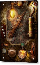 Steampunk - Victorian Fuse Box Acrylic Print by Mike Savad