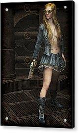 Steampunk Vixen Acrylic Print