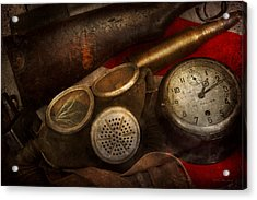 Steampunk - War - Remembering The War Acrylic Print by Mike Savad