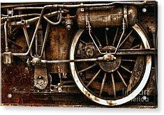 Steampunk- Wheels Of Vintage Steam Train Acrylic Print