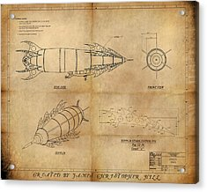 Steampunk Zepplin Acrylic Print by James Christopher Hill