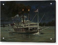 Kate Adams Steamboat Night Acrylic Print