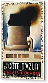 Steamship Travel Poster Acrylic Print by Granger
