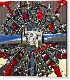 Stearman Engine Acrylic Print by Dale Jackson
