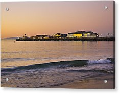 Stearns Wharf At Dawn Acrylic Print