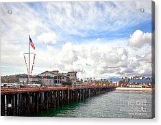 Stearns Wharf Santa Barbara California Acrylic Print by Artist and Photographer Laura Wrede