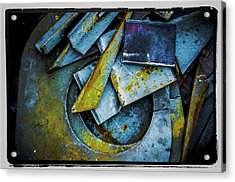 Acrylic Print featuring the photograph Steel Abstract Six by Craig Perry-Ollila