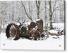 Steel And Snow Acrylic Print