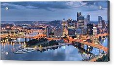 Steel City Glow Acrylic Print by Adam Jewell