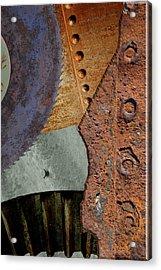 Steel Collage Acrylic Print