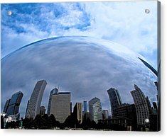 Acrylic Print featuring the photograph Steel Globe by Zafer Gurel