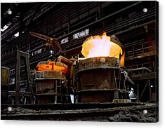 Steel Industry In Smederevo. Serbia Acrylic Print